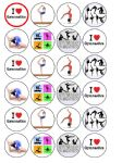 24 x Gymnastics Edible Rice Wafer Paper Bun Cup Cake Top Toppers